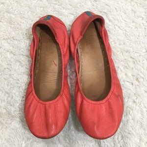 Tieks flats poppy pink women's sz 7